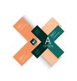 Creative paper flat geometric banner template vector