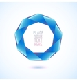 Blue nonagon shape on white background vector