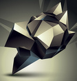 3d contemporary style abstract object cybernetic vector