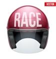 High quality racing motorcycle helmet vector