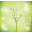 Green background with old tree vector