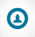 Detective bold blue border circle icon vector