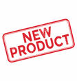 New product red rubber stamp vector