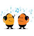 Headphone music cartoon vector