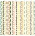 Ethnic geometric tribal decorative seamless vector