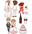 A simple sketch of a wedding vector