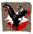 Eagle grunge design vector