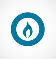 Fire bold blue border circle icon vector