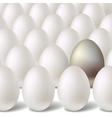 Silver egg concept vector
