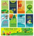 Spring easter cards vector