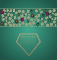 Hand drawn gems background vector