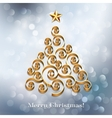 Christmas tree silver holiday background vector