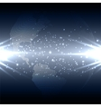 Abstract technology background with world globe vector