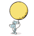 The dog with the moon vector