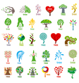 Biggest collection of logos stylized tree vector