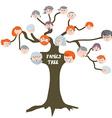 Family tree - funny cartoon vector