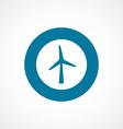Wind mill bold blue border circle icon vector