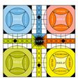 Vintage game board vector
