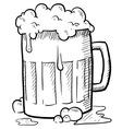 Doodle beer mug vector