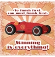 One retro sport car postcard vector
