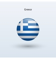 Greece round flag vector