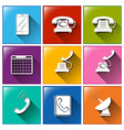 Different communication buttons vector