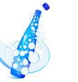Sparkling water bottle vector