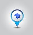 Education pins vector