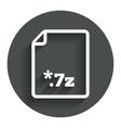 Archive file icon download 7z button vector