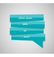 Speech bubble template vector