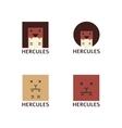 Minimalistic hercules head logotype vector