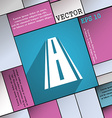 Road icon symbol flat modern web design with long vector