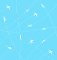 Abstract background with airplane lines vector