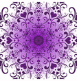 White-violet valentine round pattern vector