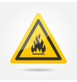 Fire attention icon vector