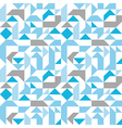 Pastel seamless pattern with geometric figures vector