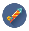 Rocket fireworks icon vector