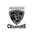 Rugby player new zealand champions vector