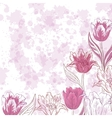 Flowers tulips on abstract background vector