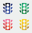 Traffic light icon abstract triangle vector