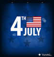 American flag card for independence day vector