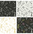 Education science doodles - seamless patterns vector