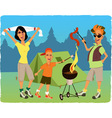 Family camping vector