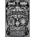Vintage hand drawn banners and labels on vector