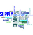 Word cloud supply chain vector