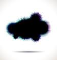 Halftone cloud shape with color aberrations vector