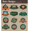 Retro badges combined vector