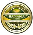 Banana gold vintage label vector