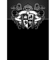 Ornate frame with shield vector