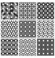 Seamless geometric patterns set vector